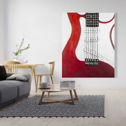 Canvas 48 x 60 - Red electric guitar