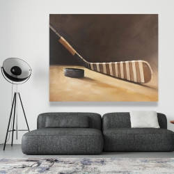Canvas 48 x 60 - Stick and hockey puck