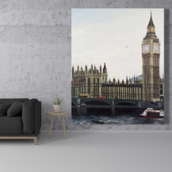 Canvas 48 x 60 - Big ben clock elizabeth tower in london