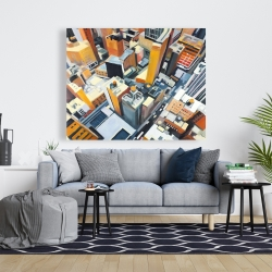 Canvas 48 x 60 - High top view of buildings in new york