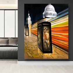 Canvas 48 x 60 - Fast london bus