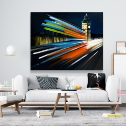 Canvas 48 x 60 - London bus with long exposure