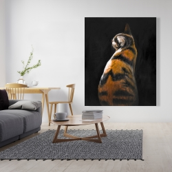 Canvas 48 x 60 - Spotted cat
