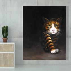 Canvas 48 x 60 - Discreet cat