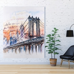 Canvas 48 x 60 - Bridge sketch n-y