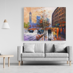 Canvas 48 x 60 - City by fall