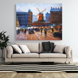 Canvas 48 x 60 - Street scene to moulin rouge
