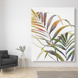 Canvas 48 x 60 - Watercolor tropical palm leaves