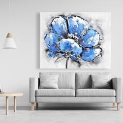 Canvas 48 x 60 - Abstract blue petals