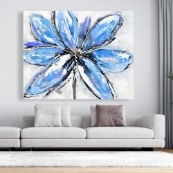 Canvas 48 x 60 - Blue flower
