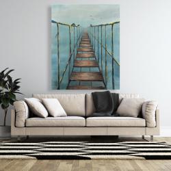 Canvas 48 x 60 - Old and dangerous bridge