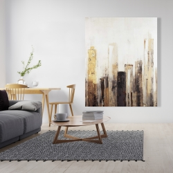 Canvas 48 x 60 - Earthy tones city
