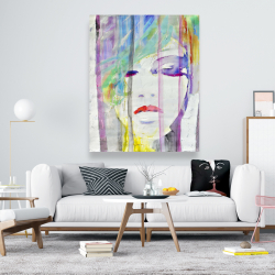 Canvas 48 x 60 - Abstract colorful portrait
