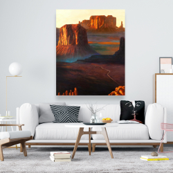 Canvas 48 x 60 - Monument valley tribal park in arizona