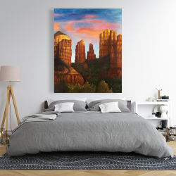 Canvas 48 x 60 - Cathedral rock in arizona