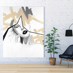 Canvas 48 x 60 - Divided woman