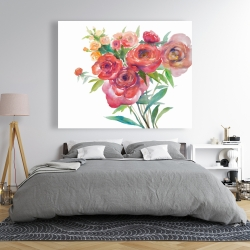 Canvas 48 x 60 - Watercolor bouquet of flowers