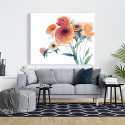 Canvas 48 x 60 - Watercolor flowers