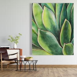 Canvas 48 x 60 - Watercolor agave plant