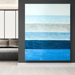 Canvas 48 x 60 - Blue stripes