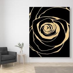Canvas 48 x 60 - Black rose