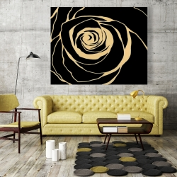 Canvas 48 x 60 - Black rose