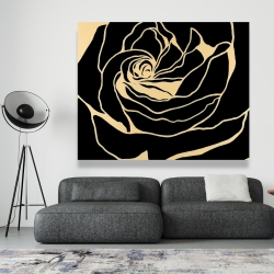 Canvas 48 x 60 - Cutout black rose