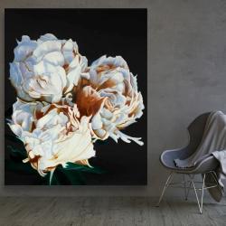 Canvas 48 x 60 - Blooming peonies