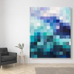 Canvas 48 x 60 - Pixelized landscape