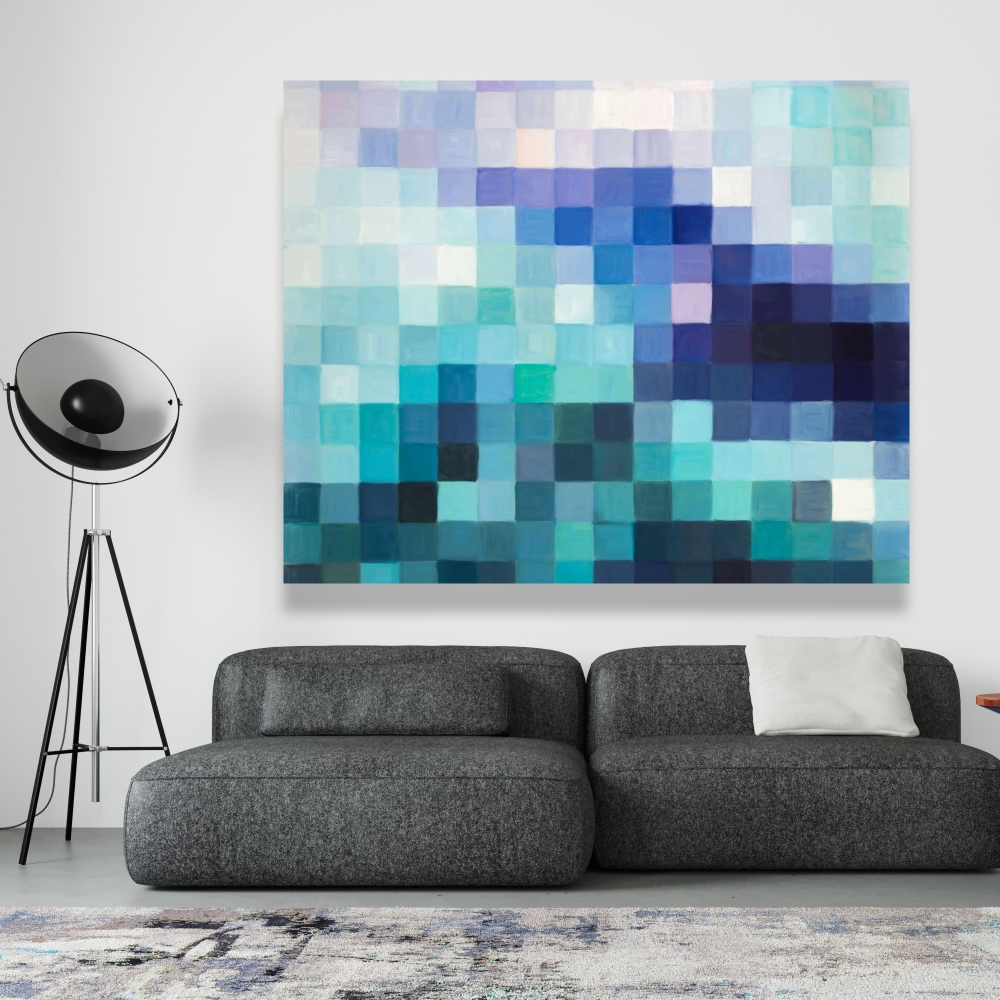 Paysage pixelisé