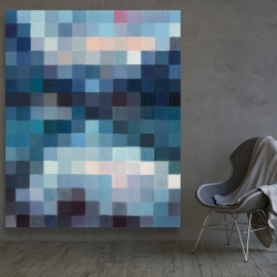 Canvas 48 x 60 - Pixelated mountainous landscape