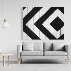Canvas 48 x 60 - Rhombus on wood