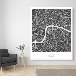 Canvas 48 x 60 - Graphic map of london