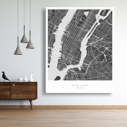 Canvas 48 x 60 - New york graphic map