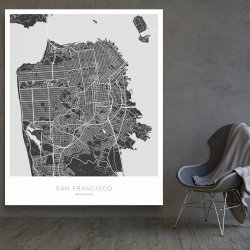 Canvas 48 x 60 - San francisco graphic map