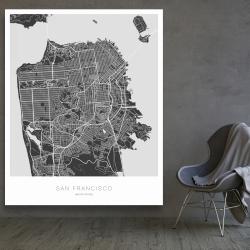 San francisco graphic map