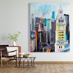 Canvas 48 x 60 - Colorful cityscape of manhattan