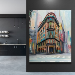 Canvas 48 x 60 - Building architecture in new-york