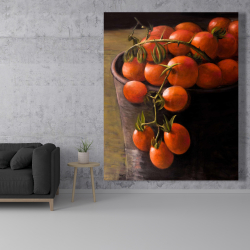 Canvas 48 x 60 - Bucket of cherry tomatoes