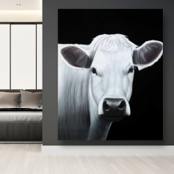 Canvas 48 x 60 - White cow