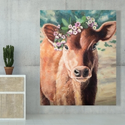 Canvas 48 x 60 - Cute jersey cow