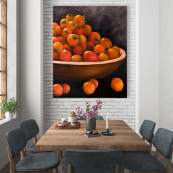 Canvas 48 x 60 - Bowl of cherry tomatoes