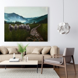 Canvas 48 x 60 - Sheep in the countryside