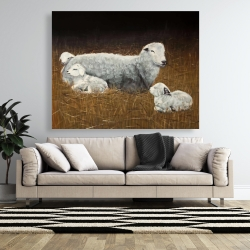 Canvas 48 x 60 - Sheep and lambs