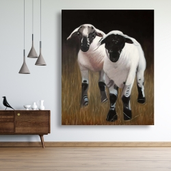 Canvas 48 x 60 - Two lambs