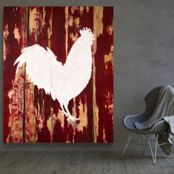 Canvas 48 x 60 - Rooster silhouette