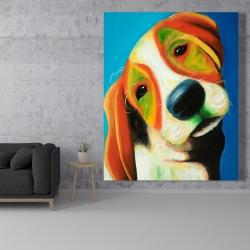 Canvas 48 x 60 - Colorful beagle dog