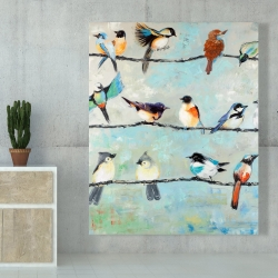 Canvas 48 x 60 - Small colorful birds