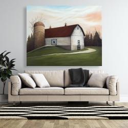 Canvas 48 x 60 - White barn