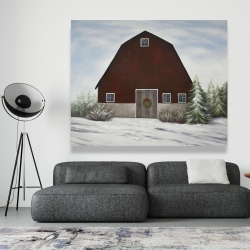 Canvas 48 x 60 - It's winter on the farm